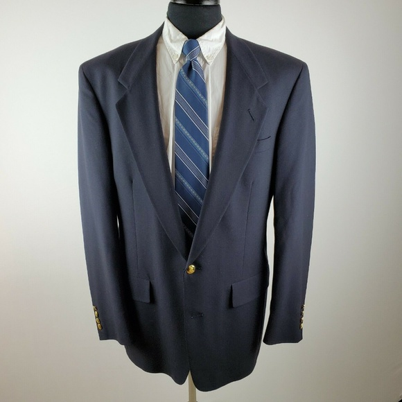 Austin Reed Suits Blazers Austin Reed 4 L Long 2 Gold Button Navy Blazer Poshmark